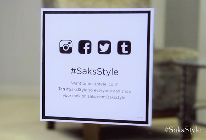 Saks 5th hashtag campaign