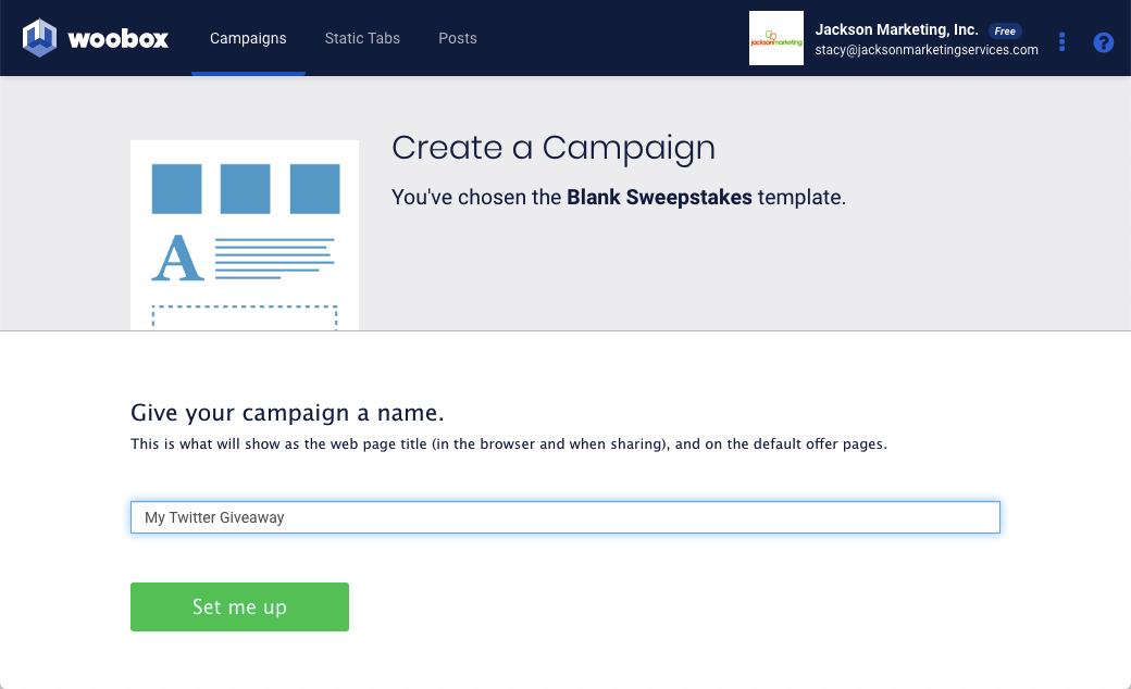 Woobox Twitter Giveaway Create Help Guide