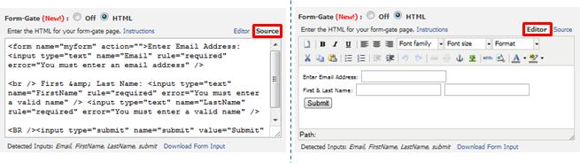 FormGate Source & WYSIWYGEditor