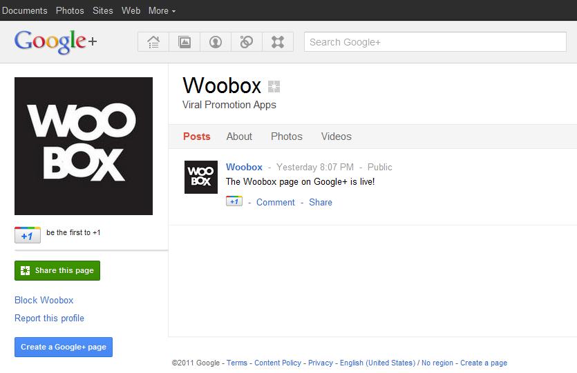 Woobox   Google