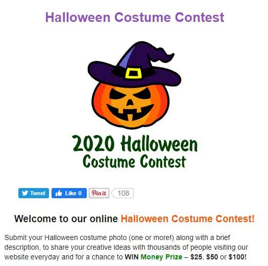 2020 halloween costume contest online example