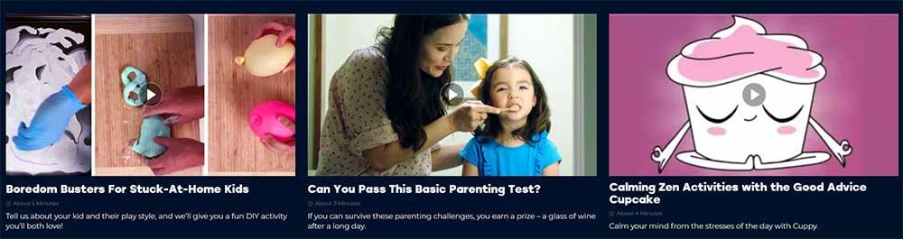 video marketing quiz example