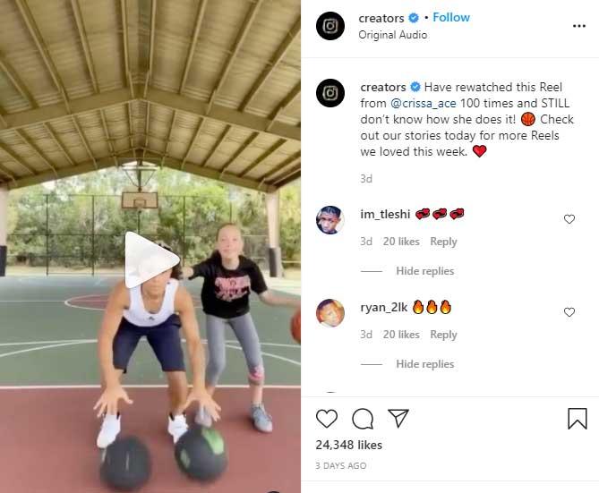 instagram reels video contest example
