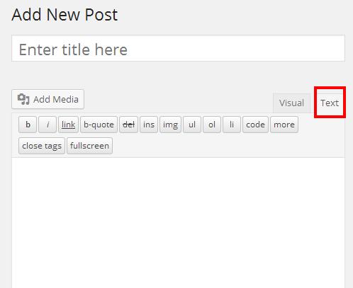 Embed using WordPress