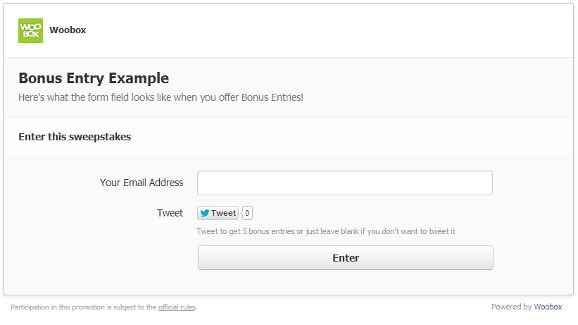 Bonus Entry Example