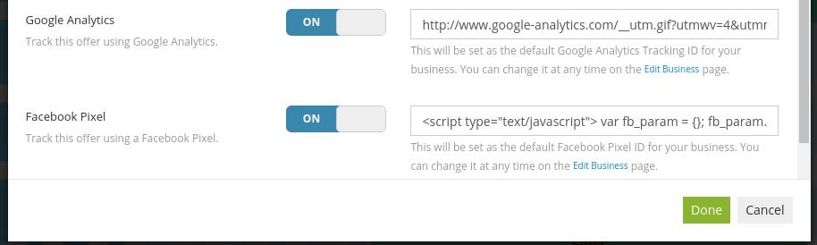 Pixel code fields