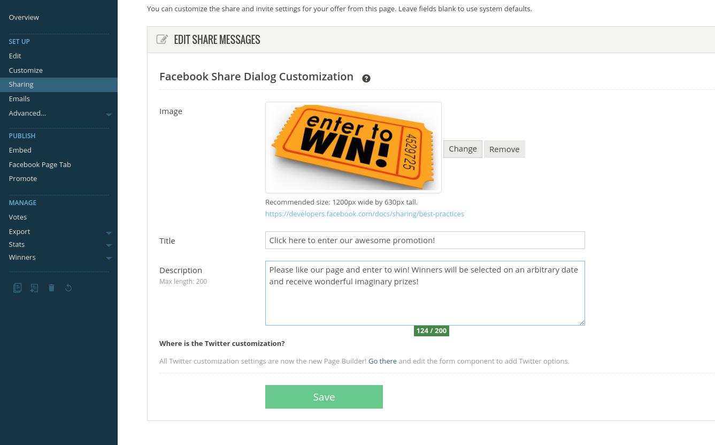 Share customization
