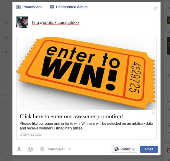 Facebook offer share