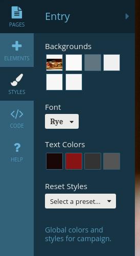 Customize -Styles nav