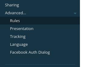 Advanced -> Rules