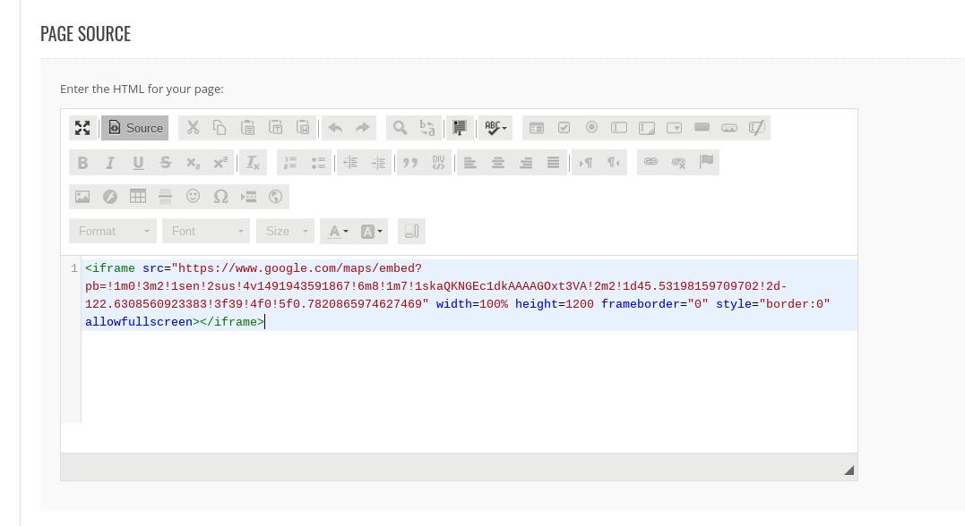 Embed HTML adjust