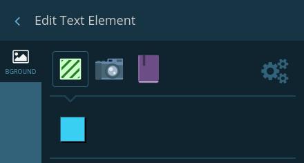 Element background settings