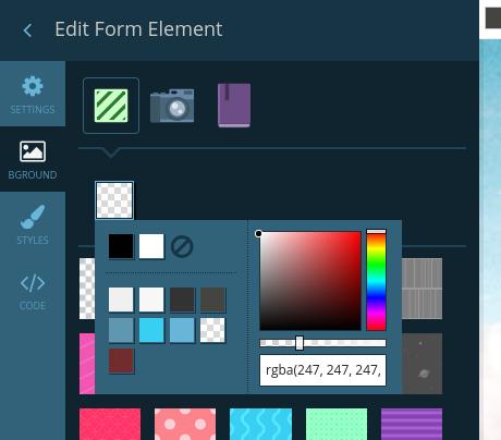 Change element to transparent