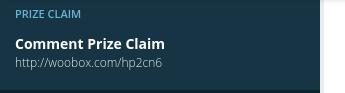 Prize Claim Share URL
