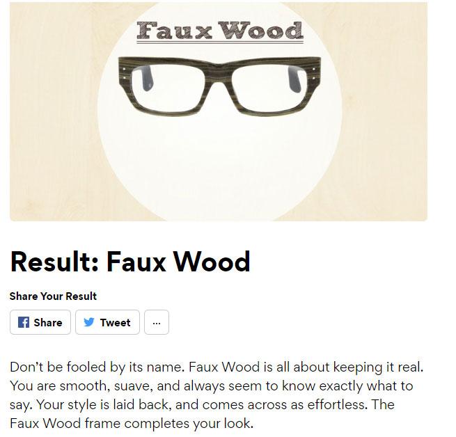 interactive marketing quiz result example