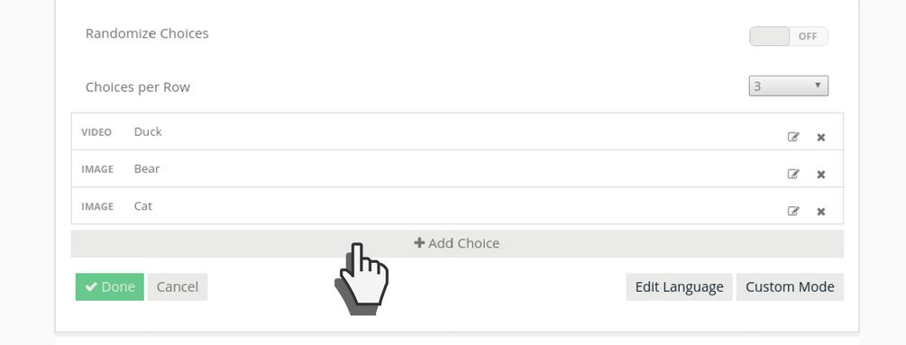 Add choice (poll)
