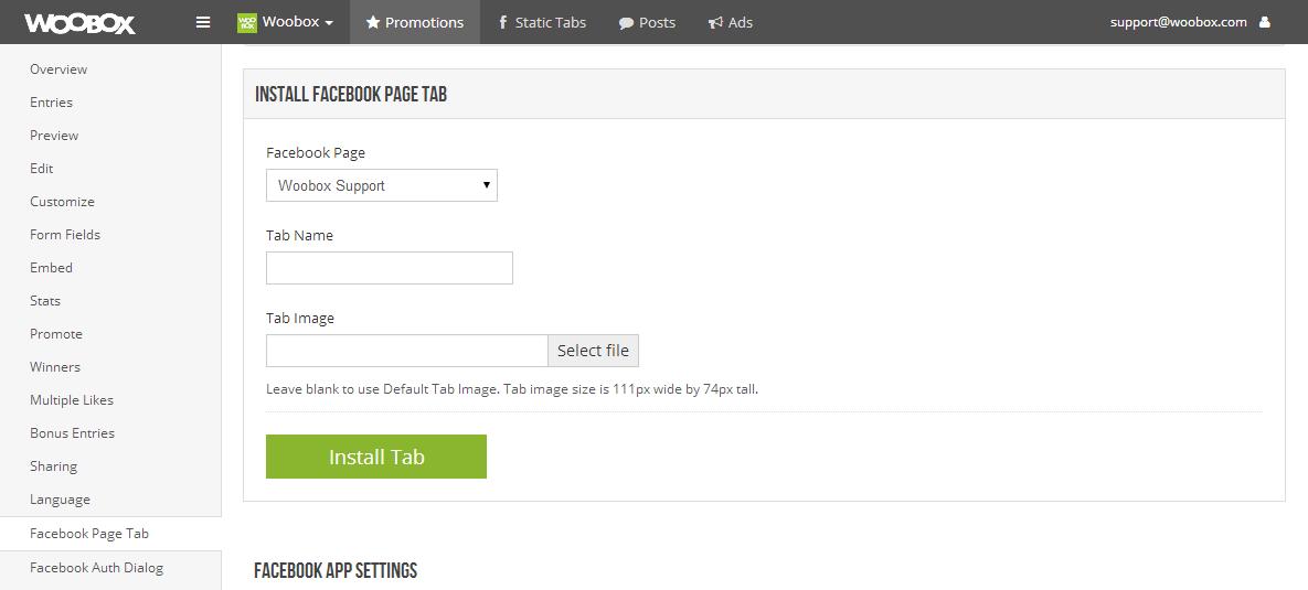 install tab