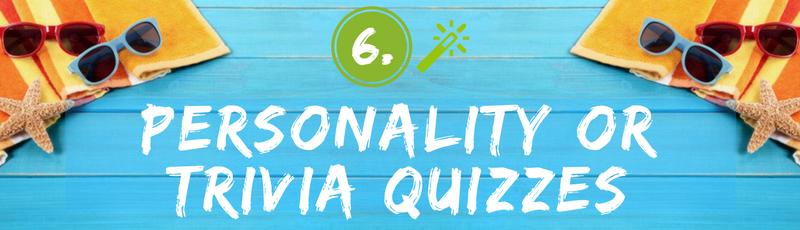 Summer Personality & Trivia Quiz Ideas