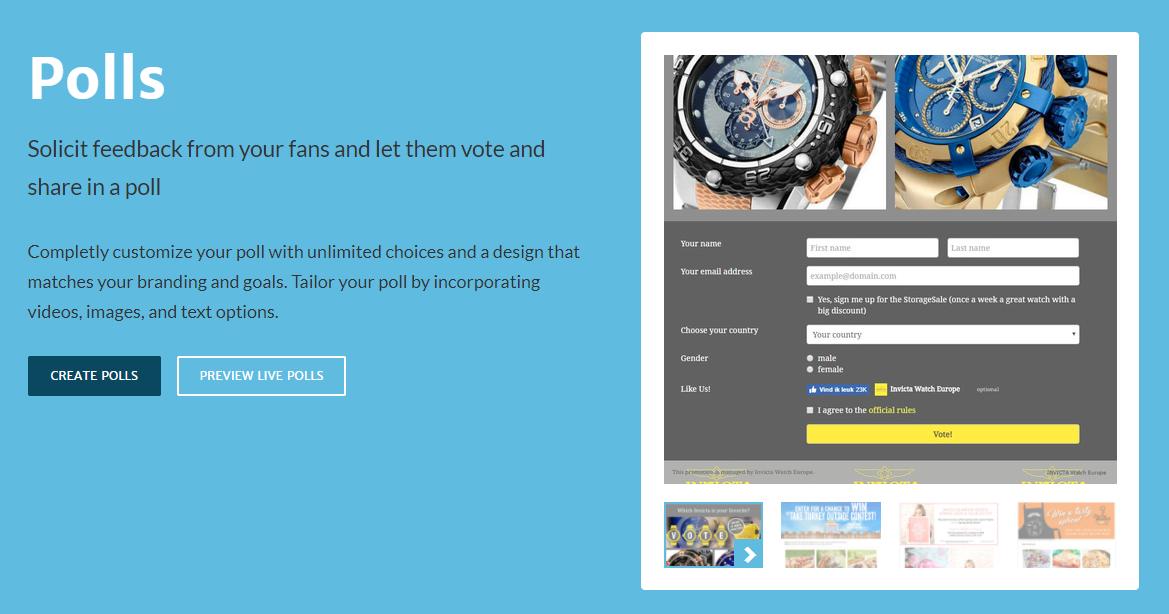 Woobox Polls for Social Media Surveys